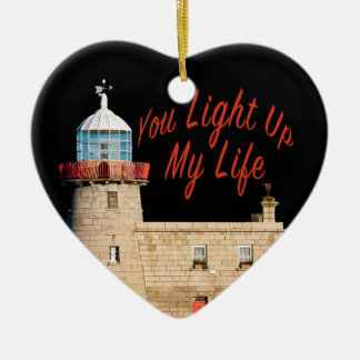 You Light Up My Life Ceramic Heart Ornament
