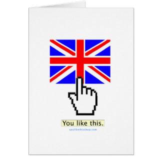 You Like England. Card