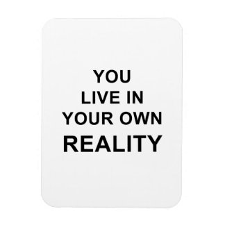 YOU LIVE IN YOUR OWN REALITY MAGNET