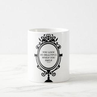 You look under beautiful smile when you coffee mug