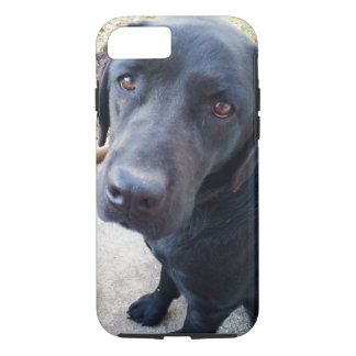 You Looking At Me - Black Labrador iPhone 7 Case