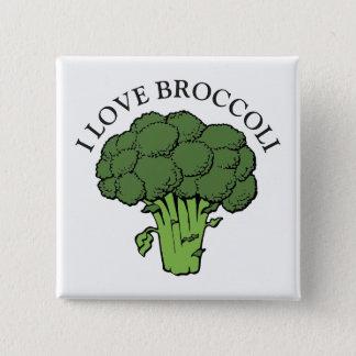 You love broccoli? 2 inch square button