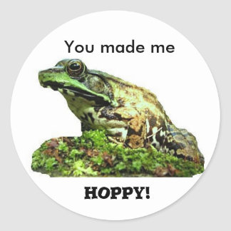 You made me... classic round sticker
