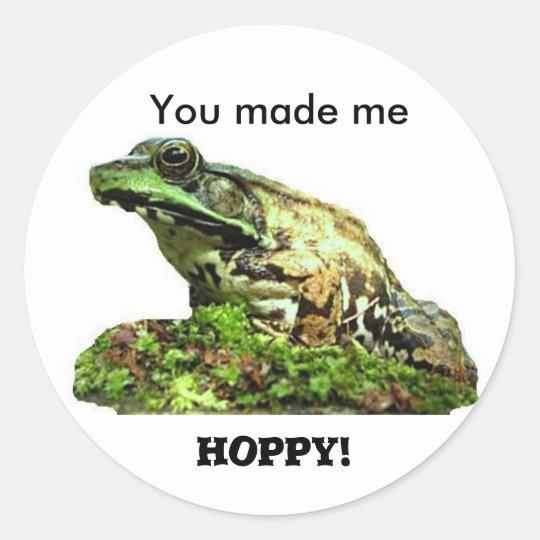 You made me... classic round sticker