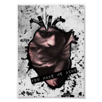 you make me ache anatomical heart poster