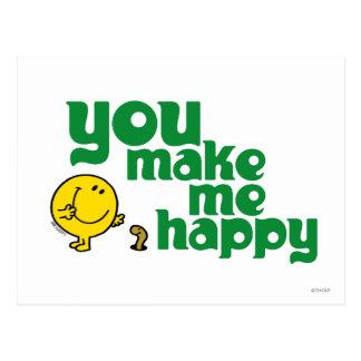You Make Me Happy Postcard