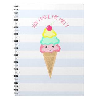You make me melt - Spiral Notebook