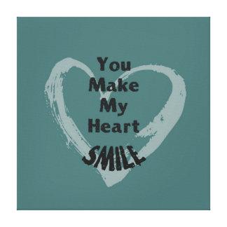 You Make Me Smile Canvas Print