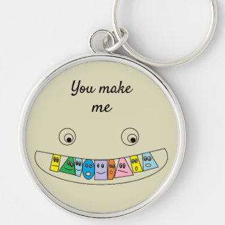 You make me SMILE Cute Toothy Smile Keychain