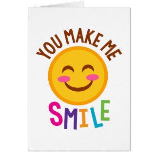 You Make Me Smile Emoji Card