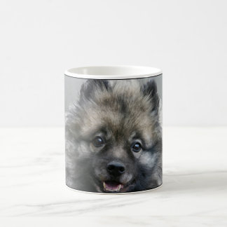 """You make me smile"" Keeshond coffee mug"