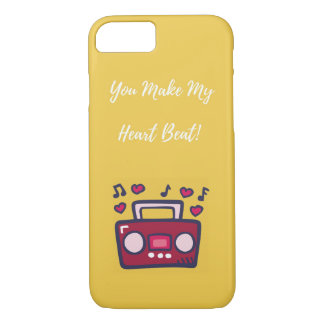 'You Make My Heart Beat' iPhone Case