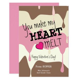 You Make My Heart Melt Classroom Valentine Card