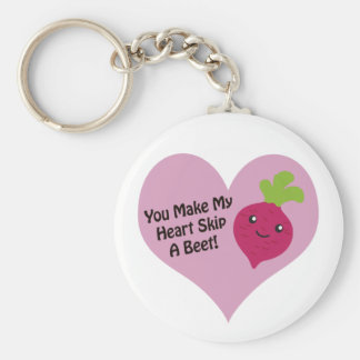 You Make My Heart Skip A Beet Basic Round Button Keychain