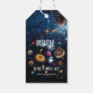 You make my universe sweet Valentine Gift Tags