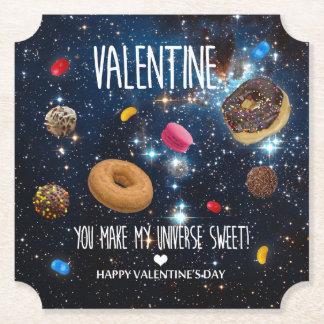 You make my universe sweet Valentine Paper Coaster