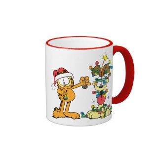 You Make the Holidays Happier Ringer Coffee Mug