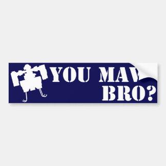 You MAV Bro? Bumper Sticker in Blue