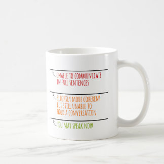 You May Speak Now Fill Lines Coffee Mug