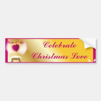 You Me And Jesus Celebrate Love-Customize Bumper Sticker