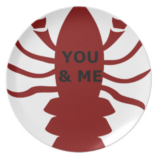 You & Me are Lobsters Plate