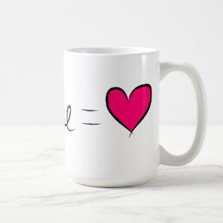 You & Me  = Love Classic White Coffee Mug