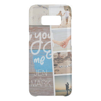 You & Me. Photo Collage of Memories. Wood Panel. Uncommon Samsung Galaxy S8 Case