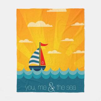 You Me & The Sea Fleece Blanket