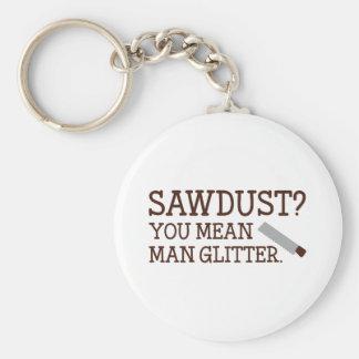 You Mean Man Glitter Basic Round Button Keychain