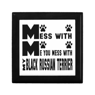 You mess with my Black Russian Terrier Trinket Box