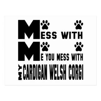 You mess with my Cardigan Welsh Corgi Postcard