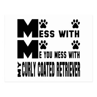 You mess with my Curly Coated retriever Postcard