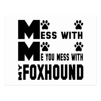 You mess with my Foxhound Postcard