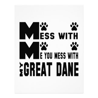 You mess with my Great Dane Customized Letterhead