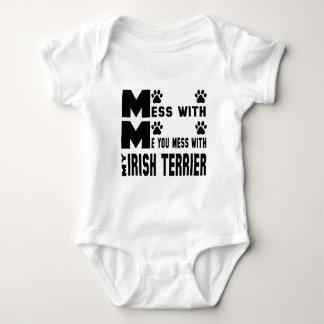 You mess with my Irish Terrier Baby Bodysuit