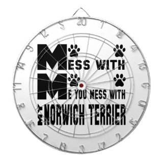 You mess with my Norwich Terrier Dartboards