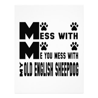 You mess with my Old English Sheepdog Custom Letterhead