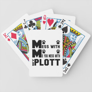 You mess with my Plott Bicycle Playing Cards