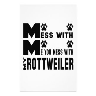 You mess with my Rottweiler Personalized Stationery