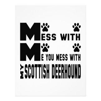 You mess with my Scottish Deerhound Custom Letterhead