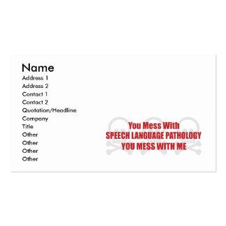 You Mess With Speech Language Pathology You Mess W Business Card Templates