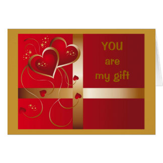 """YOU""-MY GIFT THAT GIVES ALL YEAR LONG-LOVE/CHMAS CARD"