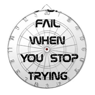 you only fail dartboard