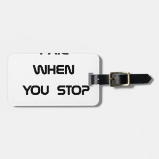 you only fail luggage tag