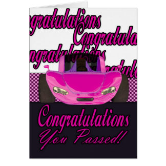 You Passed Congratulations passed driving test Card
