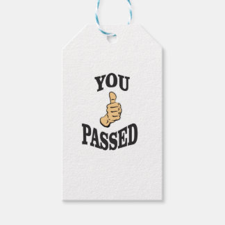you passed the thumbs gift tags