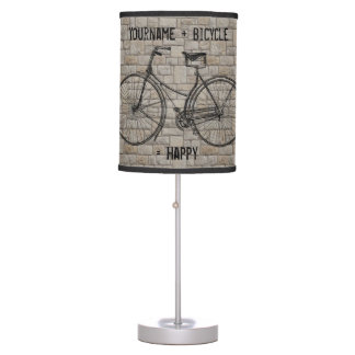 You Plus Bicycle Equals Happy Antique Bricks Gray Desk Lamps