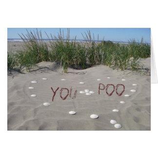 You + Poo = <3 Card