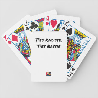 You RACIST ES, You STALE ES - Word games Bicycle Playing Cards