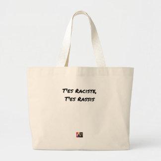 You RACIST ES, You STALE ES - Word games Large Tote Bag